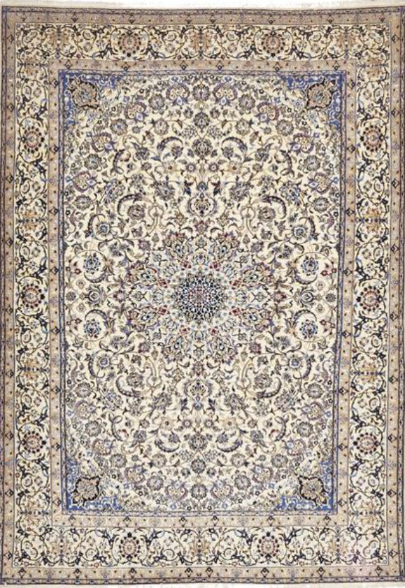 Traditional Naein Authentic Persian Rug - Size: 254x353cm