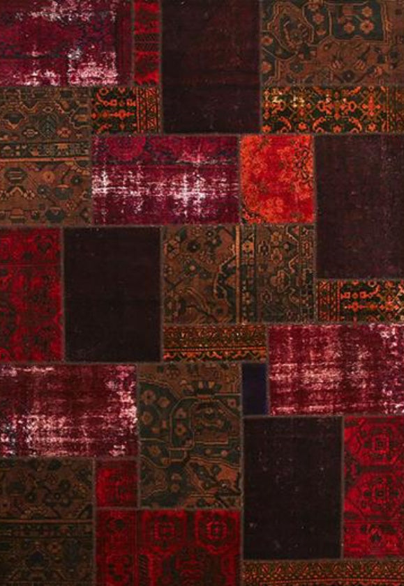 Persian Patchwork Overdyed Rug - Size: 199x299cm