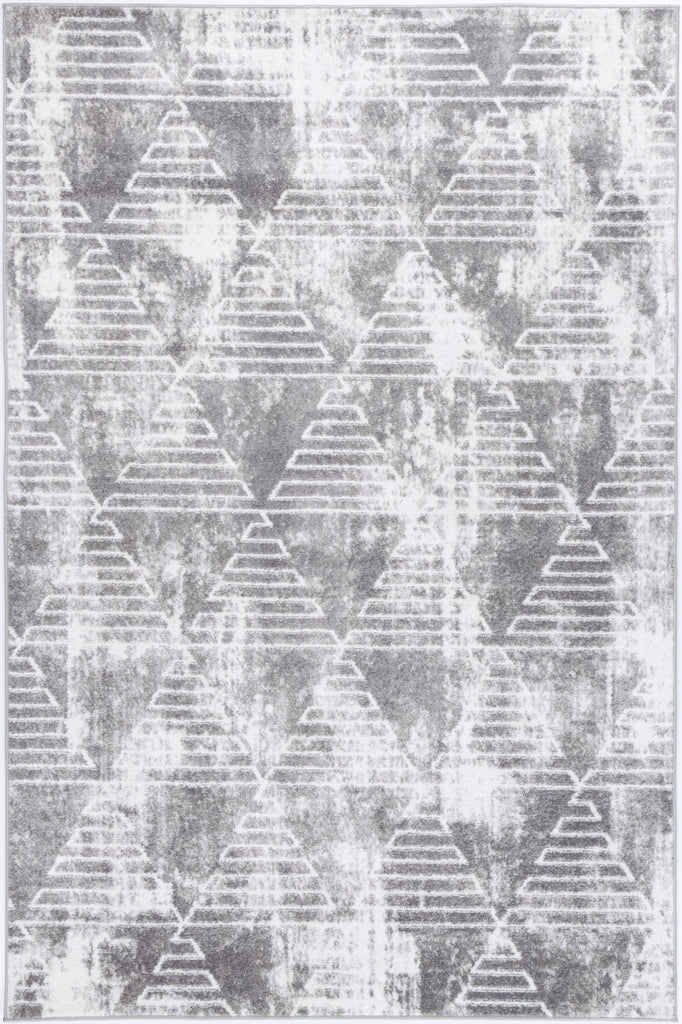 Costia Geometric Diamond Silver Modern Rug