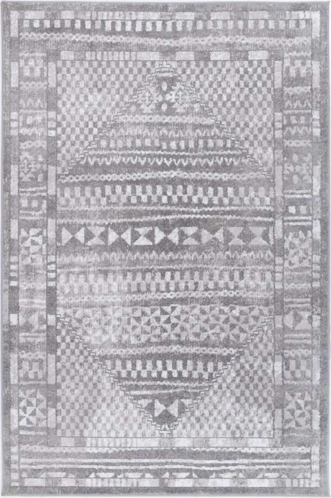 Costia Tribal Inspired Grey Modern Rug