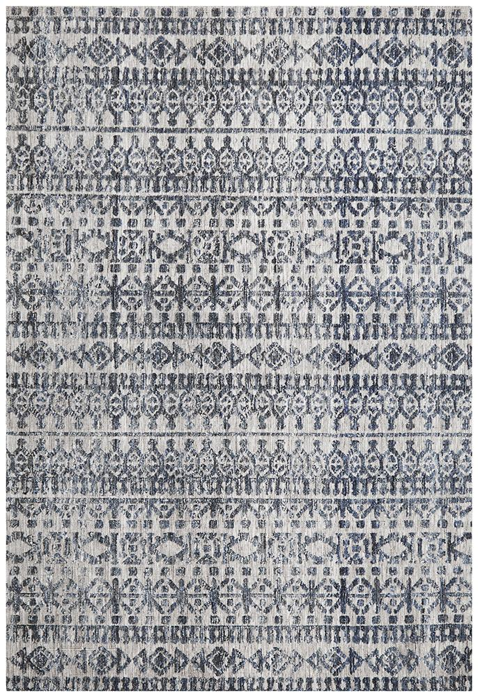 Moher Tribal Grey Navy Rug - Coconapple_2