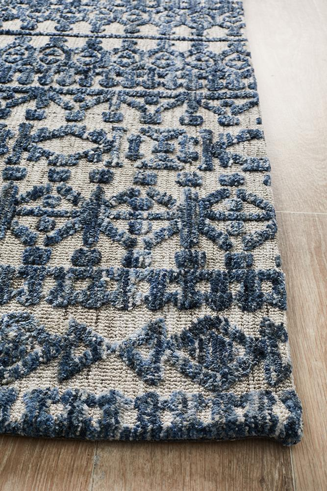 Moher Tribal Grey Navy Rug - Coconapple_4