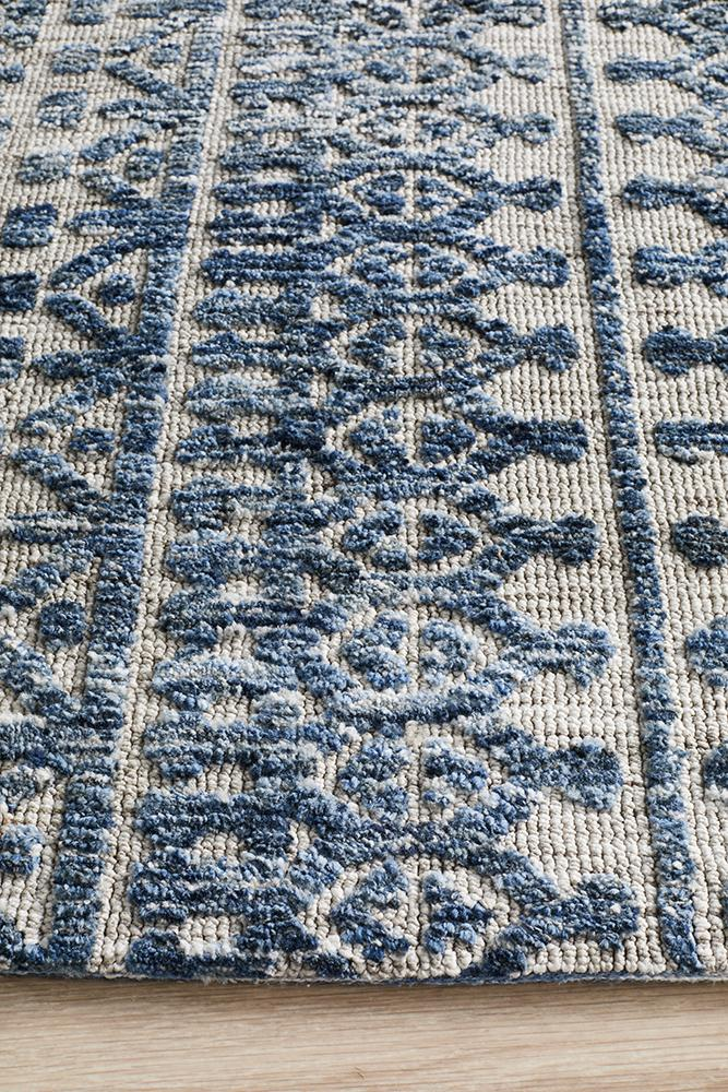 Moher Tribal Grey Navy Rug - Coconapple_5