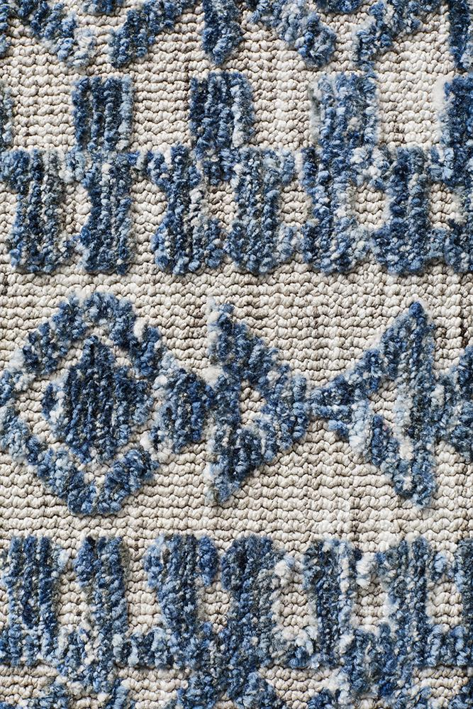 Moher Tribal Grey Navy Rug - Coconapple_6