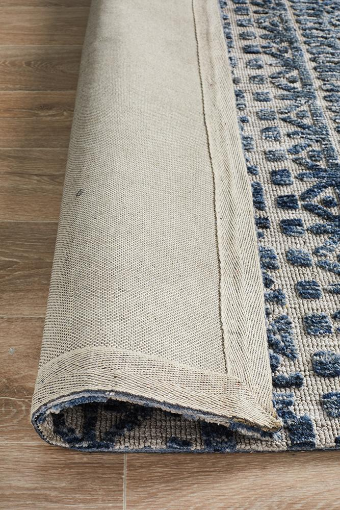 Moher Tribal Grey Navy Rug - Coconapple_7
