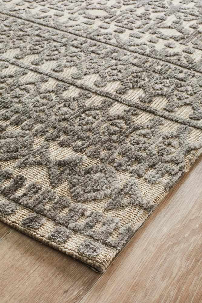 Moher Tribal Beige Taupe Rug - Coconapple_3