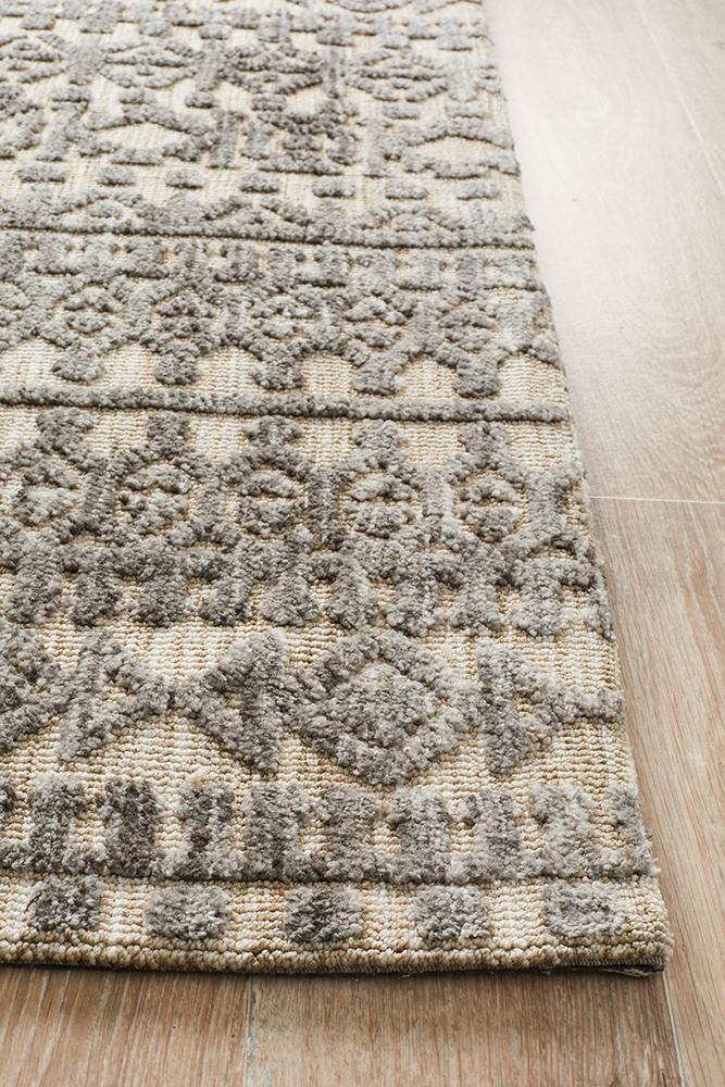 Moher Tribal Beige Taupe Rug - Coconapple_4