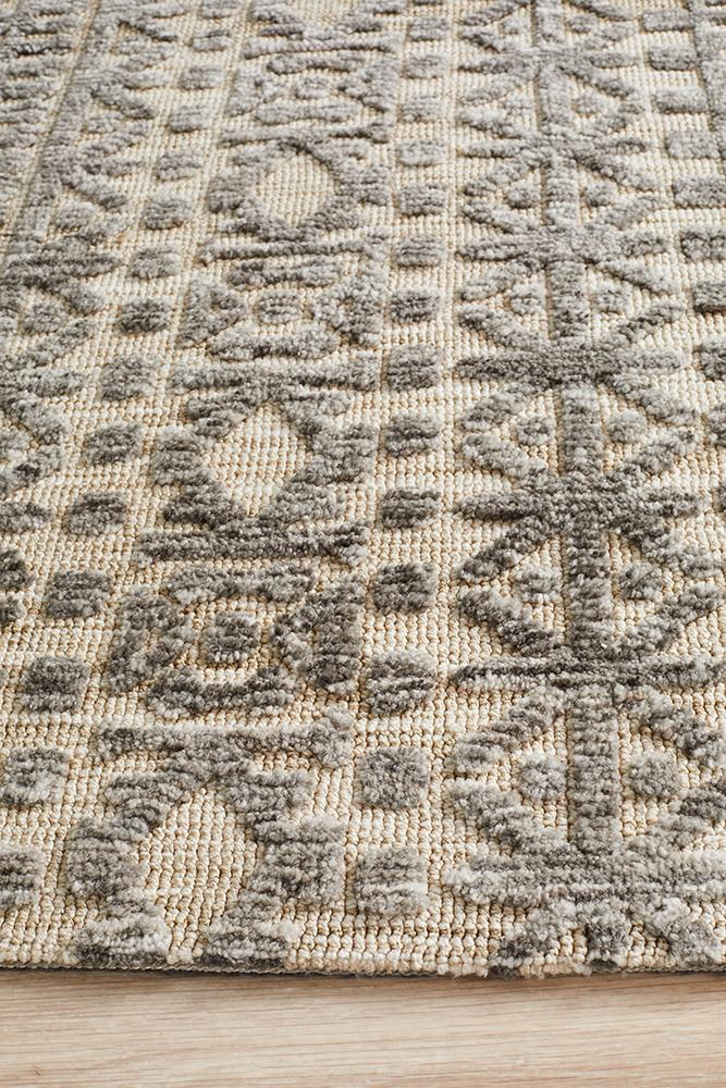 Moher Tribal Beige Taupe Rug - Coconapple_5