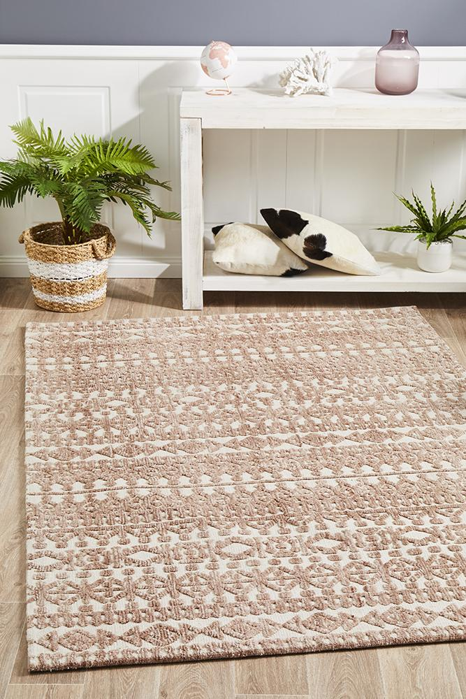 Moher Tribal Ivory Peach Rug - Coconapple_1