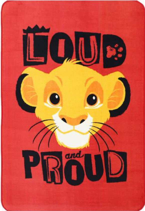 Super Kids Disney Lion King Simba Fun Floor Rug