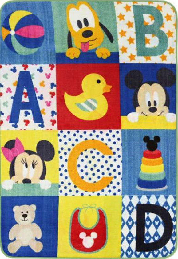 Super Kids Disney Mickey Mouse ABC Fun Floor Rug