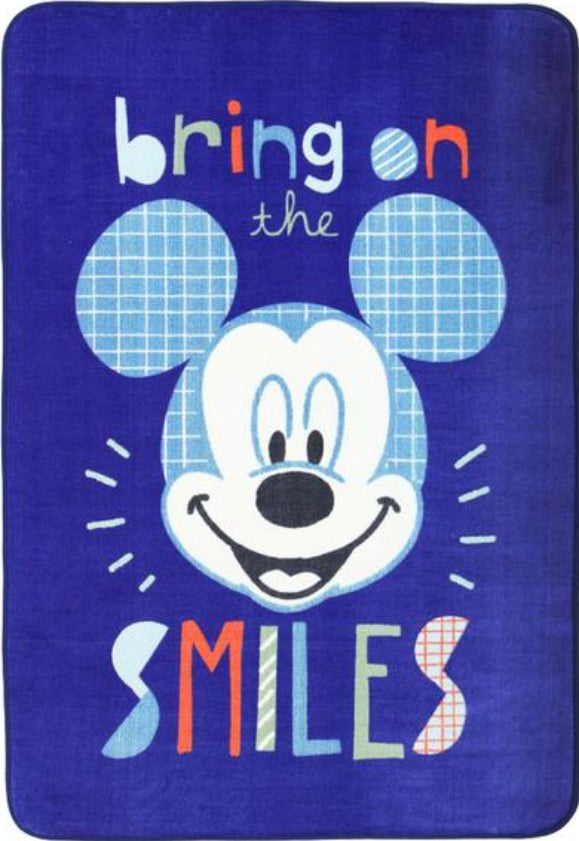 Super Kids Disney Mickey Mouse Smile Fun Floor Rug