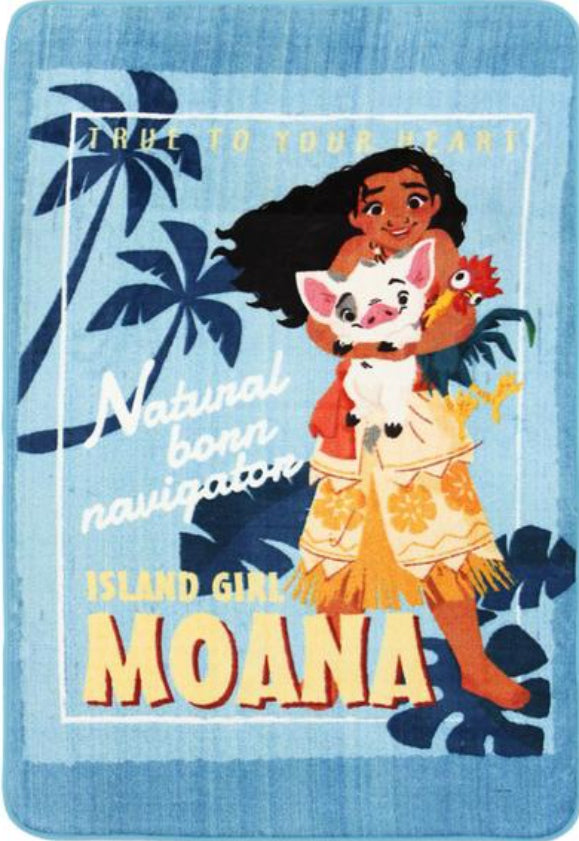Super Kids Disney Moana Island Girl Fun Floor Rug