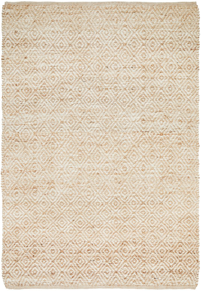 Elanora Diamond Jute Ivory Natural Rug