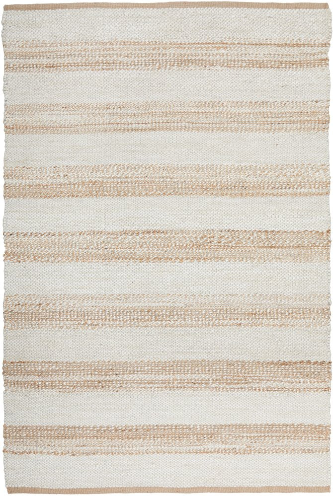 Elanora Striped Jute Ivory Natural Rug