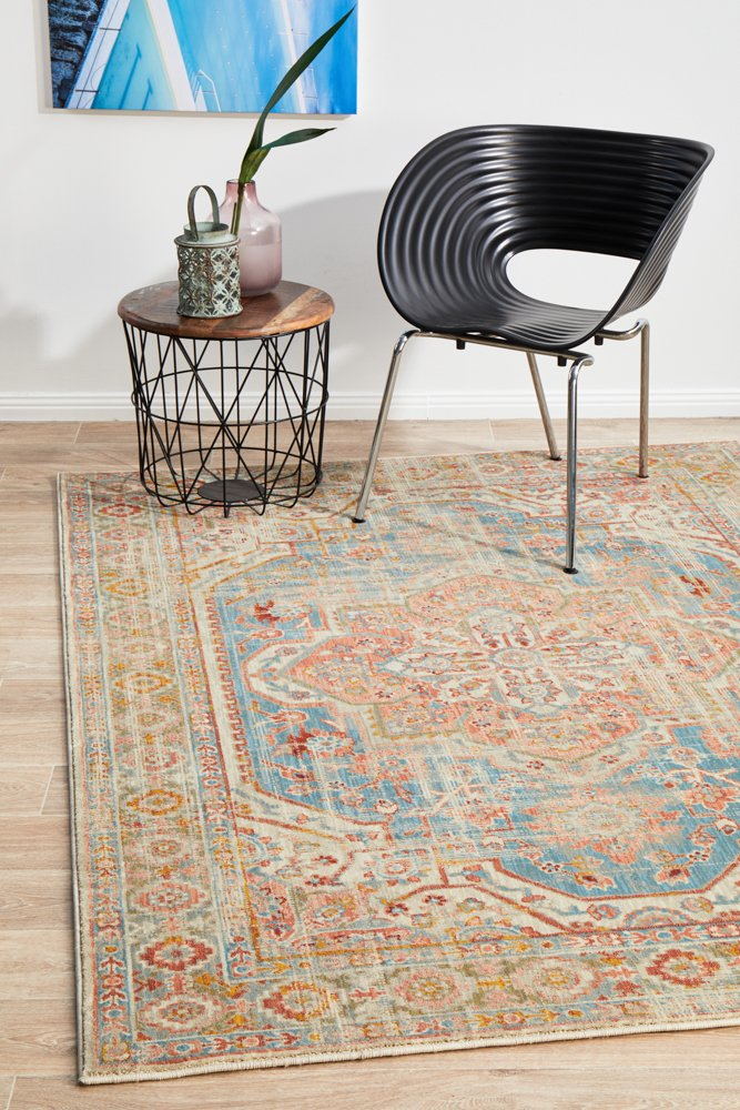 Helena Traditional Faded Coloured Modern Floor Rug
