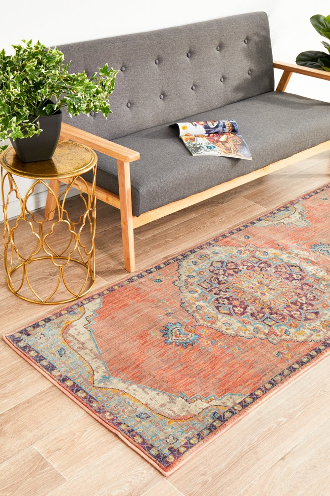 Helena Traditional Design Red Modern Runner Rug