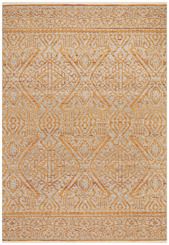Anne Boho Tribal Rust Modern Floor Rug