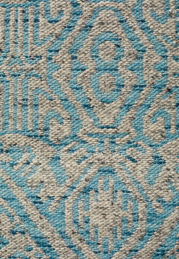 Anne Tribal Sky Blue Modern Floor Rug
