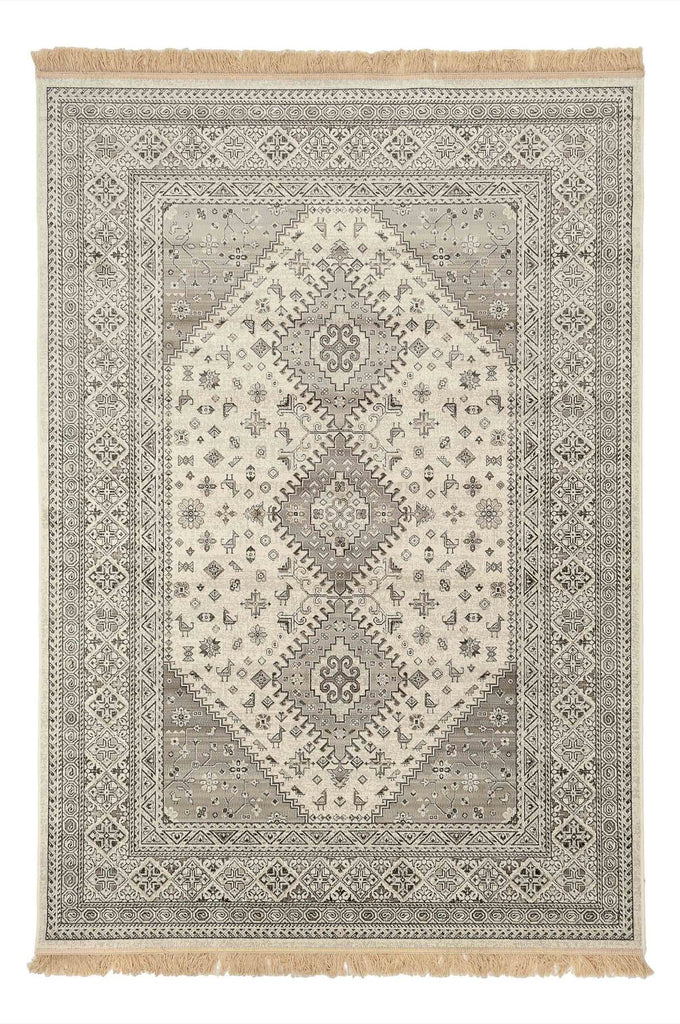 Alora Oriental Colonial Design Cream Traditional Rug