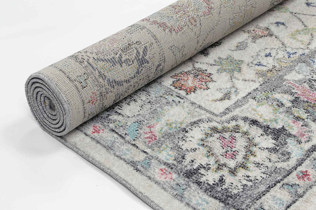 Reigate Cream Floral Oriental Transitional Runner Rug