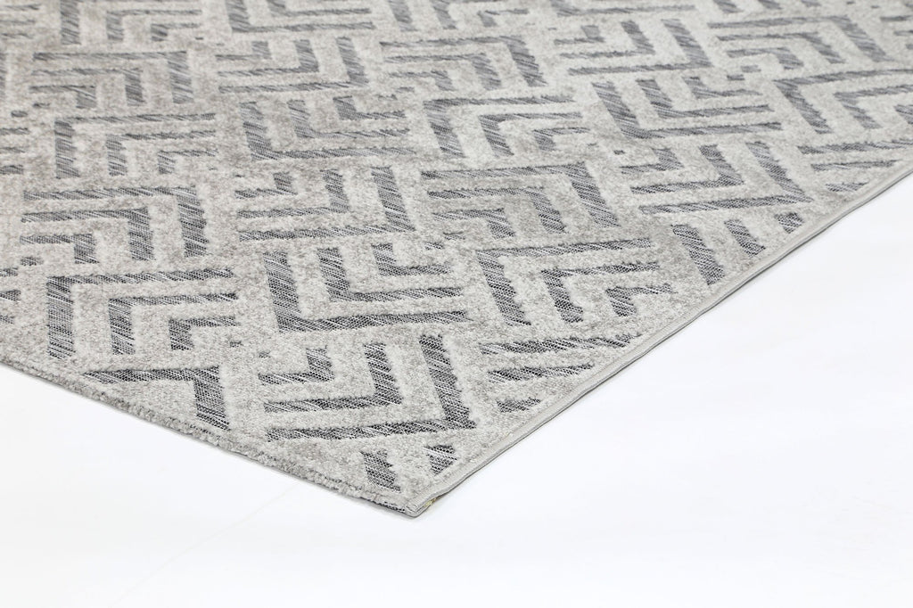 Baja Peaks Grey Indoor Outdoor Rug