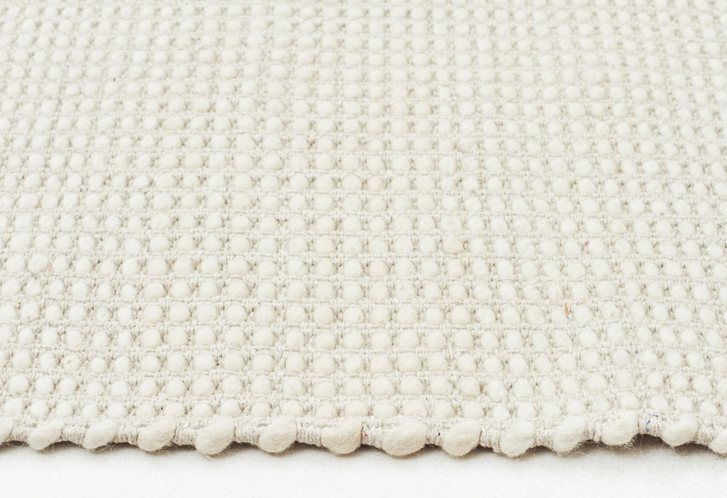 Carlos Felted Wool Rug White Natural