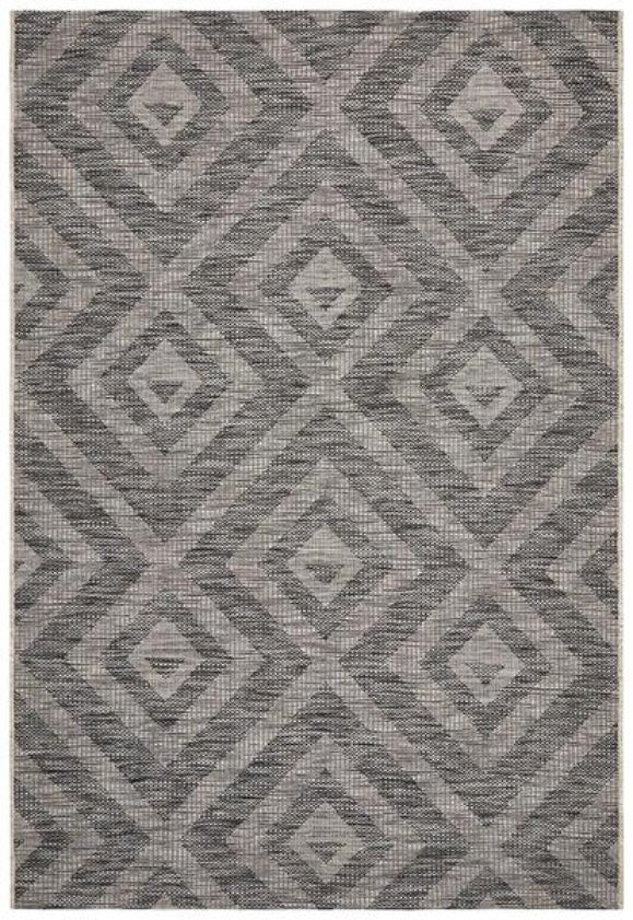Lincoln Boho Geometric Rug Black