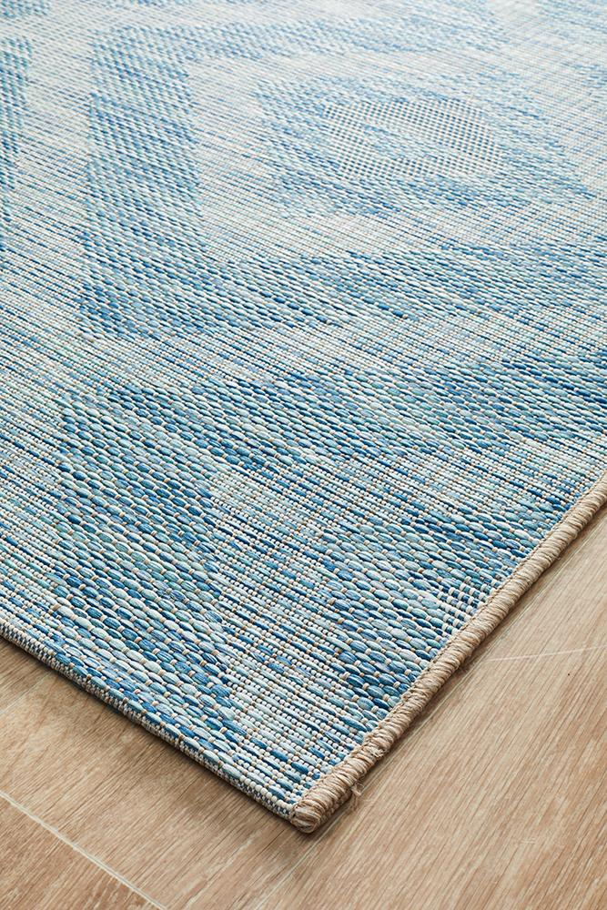 Lincoln Boho Geometric Rug Blue