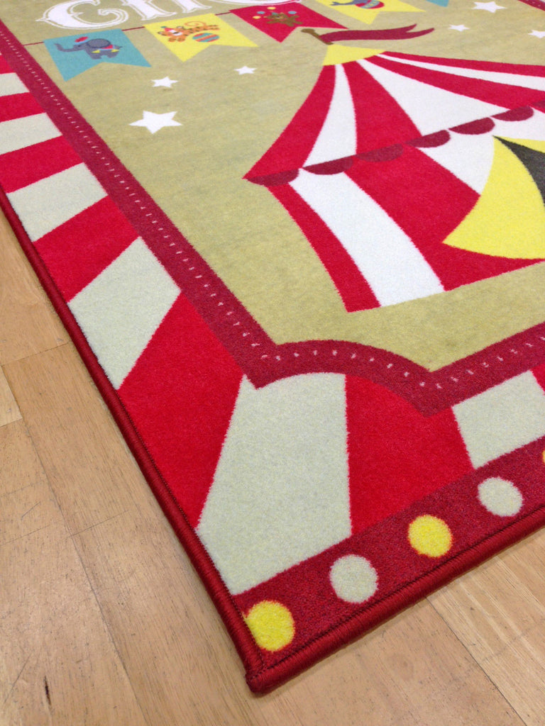 Whizz Kids Retro Vintage Circus Fun Floor Rug 120X160Cm