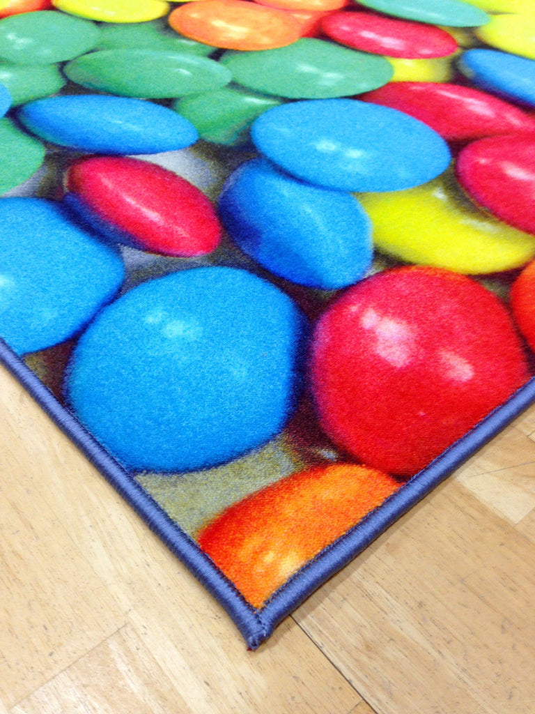 Whizz Kids Crazy Smarties Lollies Fun Floor Rug 120X170Cm