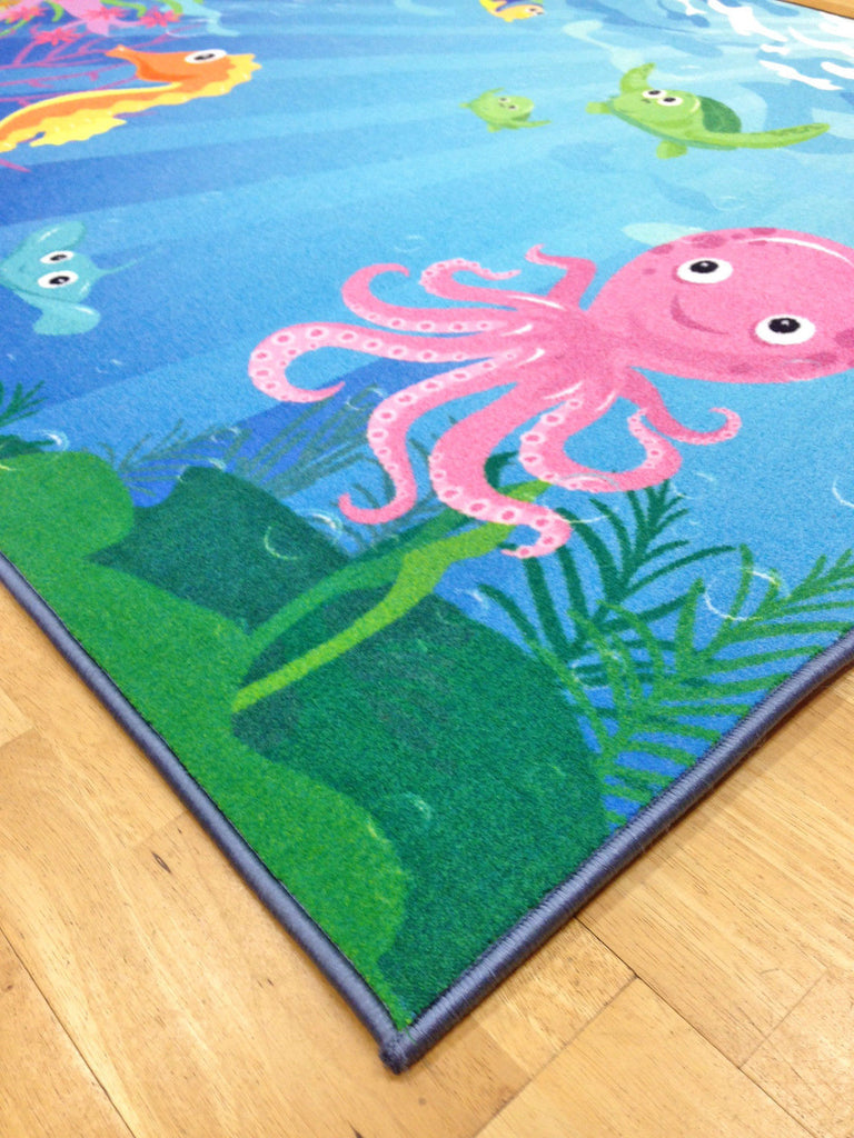 Whizz Kids Vivid Under The Sea Fun Floor Rug 133X200Cm