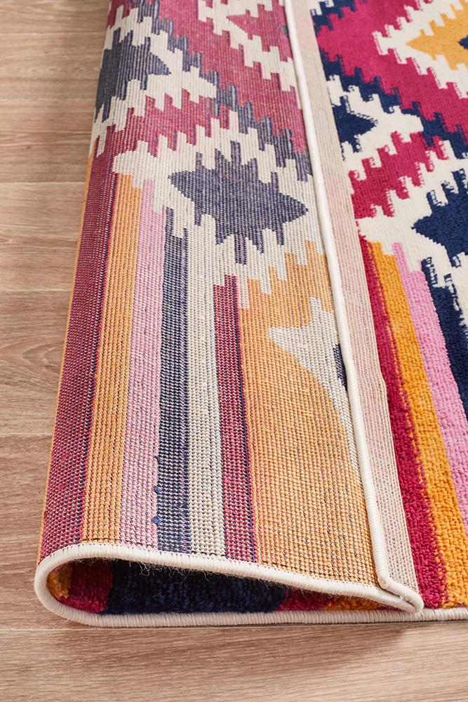 Pemba Tribal Geometric Design Multi Colour Rug