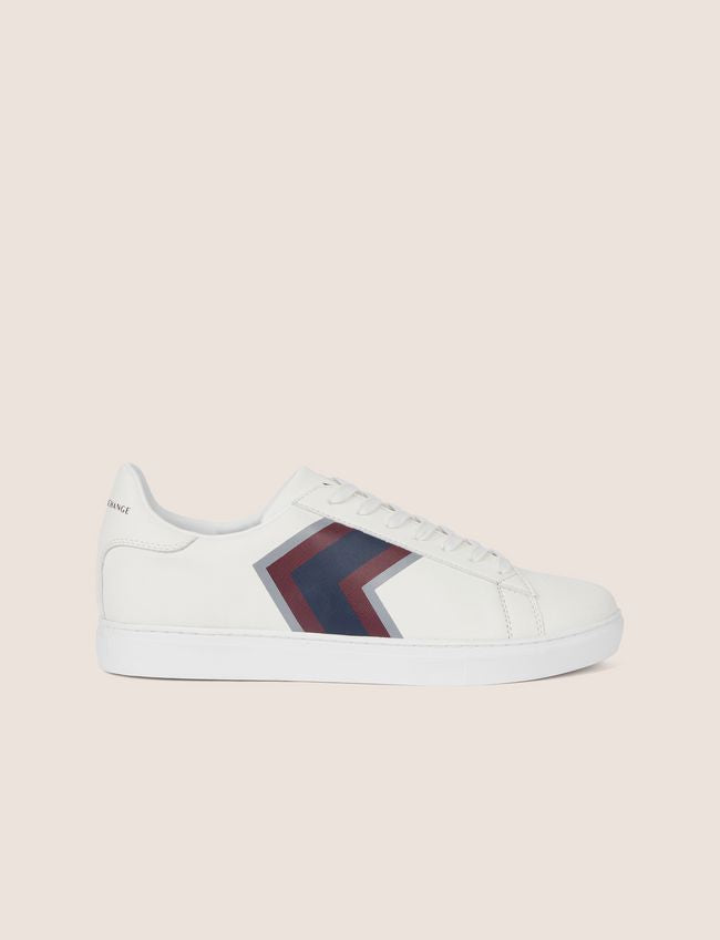Armani Exchange Textured Chevron Low Top Sneakers - Ignition For Men