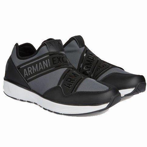 Armani Jeans Logo Tape Low Top Sneakers XUX022-XV032 Grey / Black