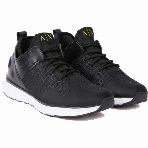 Armani Exchange Embossed Allover Logo Sneakers - Ignition For Men