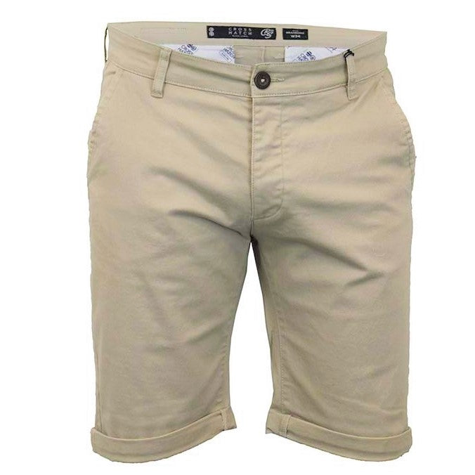 Crosshatch Brandons Oxford Tan Chino Shorts