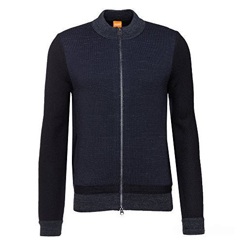 Boss Orange Cardigan Jacket  50373938 Navy
