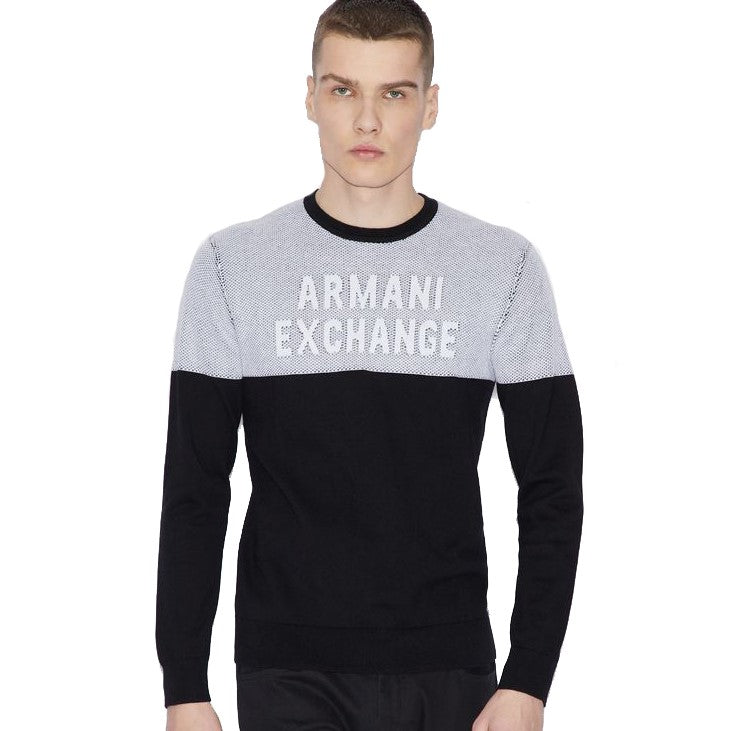 Armani Exchange Pullover 3GZM2Q-ZMM4Z Black / White