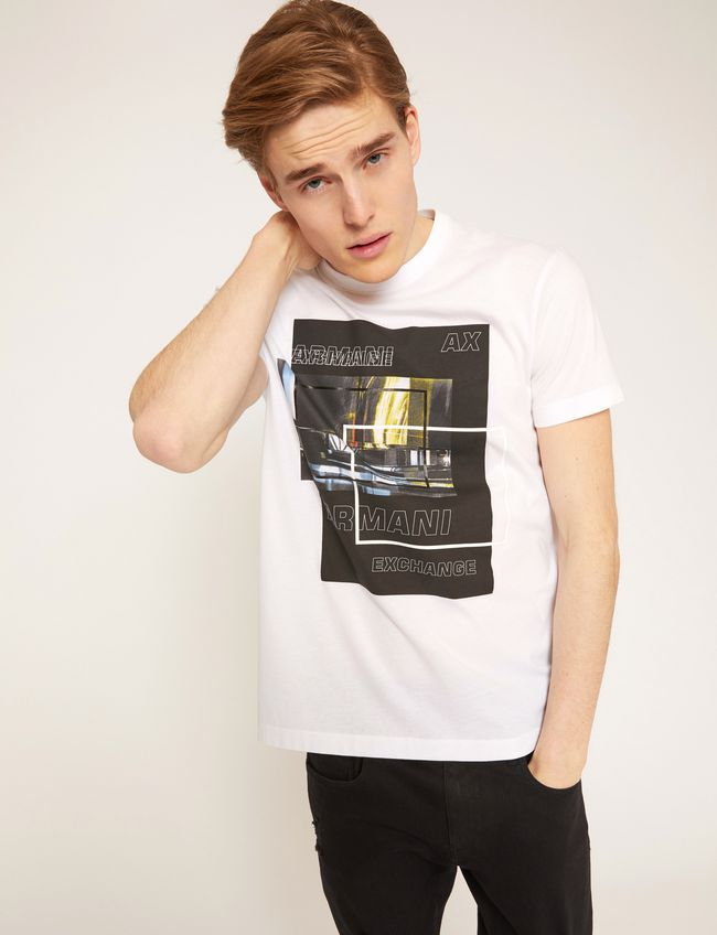 Armani Exchange Blurred Traffic T-Shirt