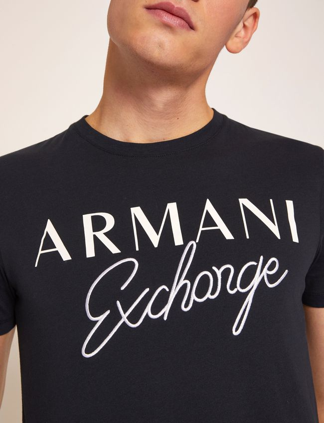 Armani Exchange Embroidered Script T-Shirt