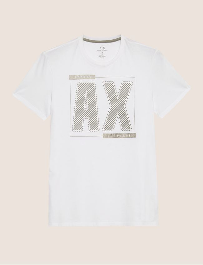 Armani Exchange Metallic Diagonal T-Shirt