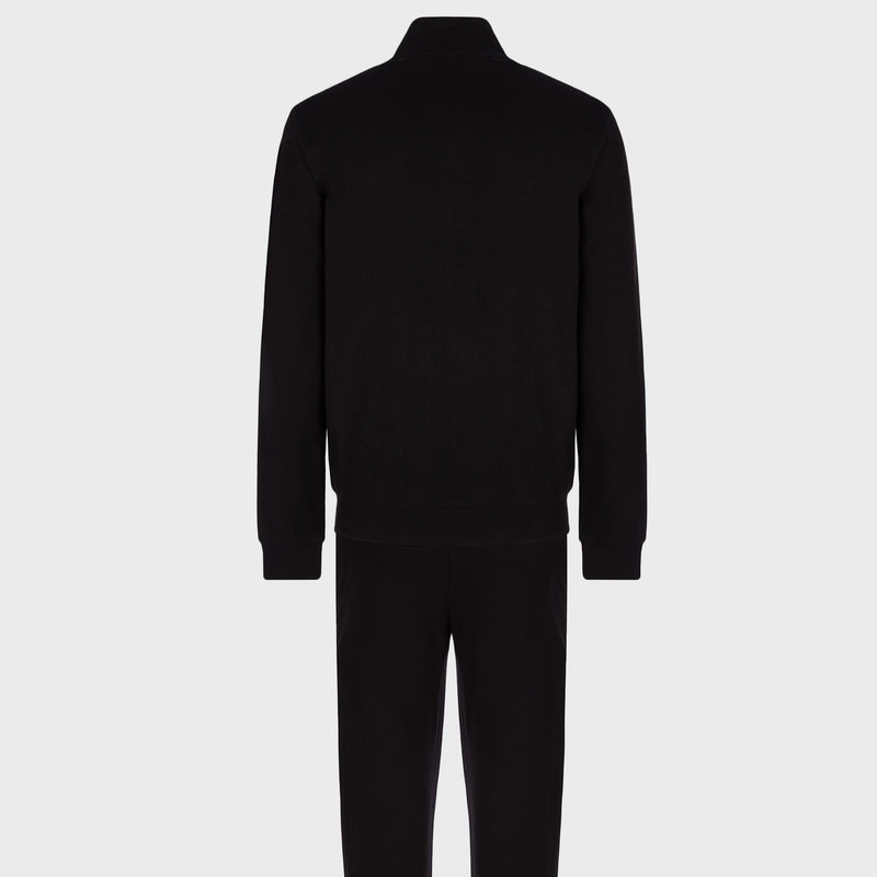 Cotton tracksuit with Turtle Neck Black 3KPV53PJ05Z11200