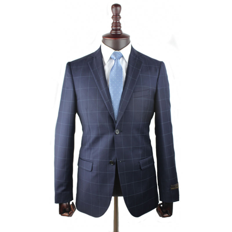 ALESSANDRO GILLES SUIT Navy Check