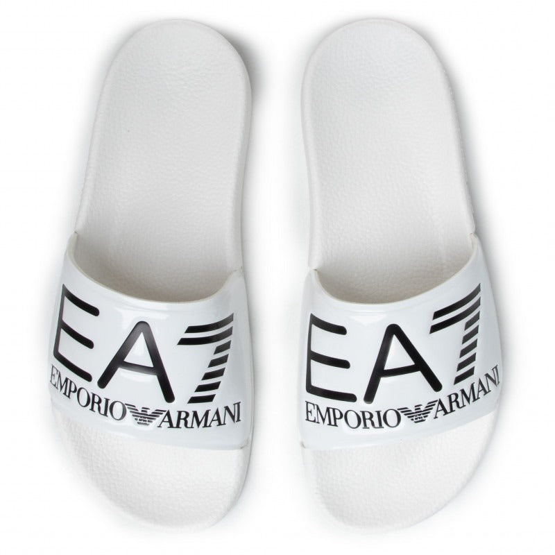 EA7 Shiney White Slippers XCP001 XCC22 A222