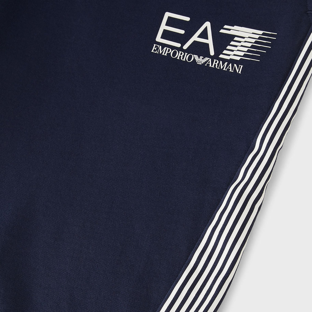 EA7 Cotton joggers with contrast logo Navy Blue 3KPP73PJ05Z11554
