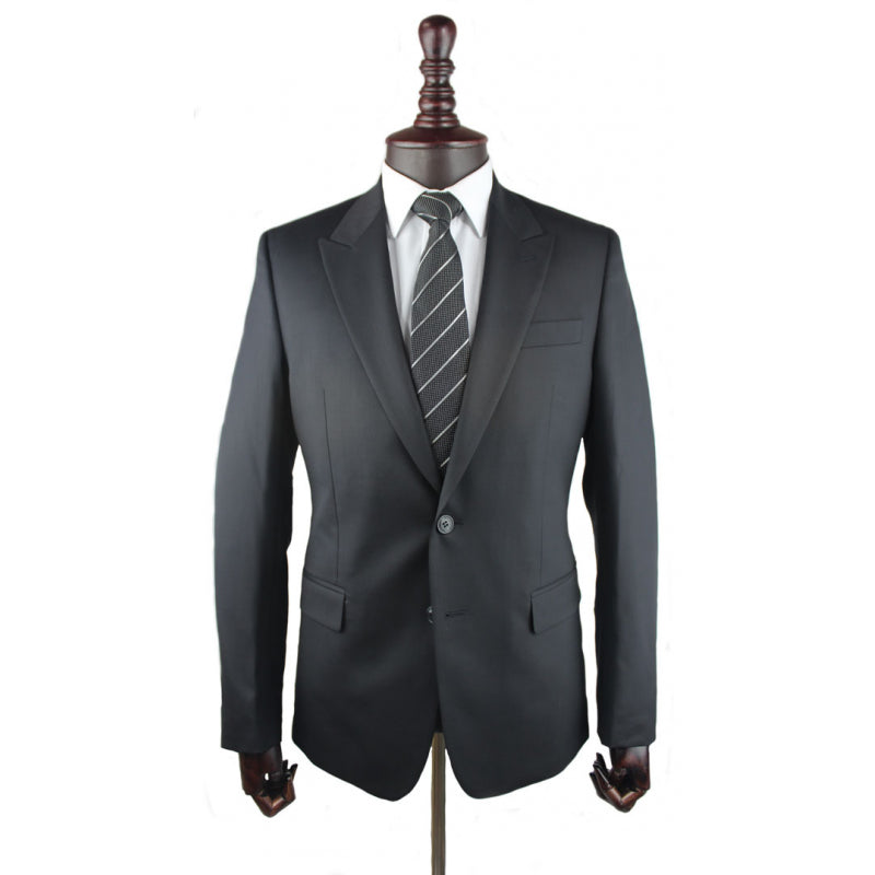Versace Collection plain black suit
