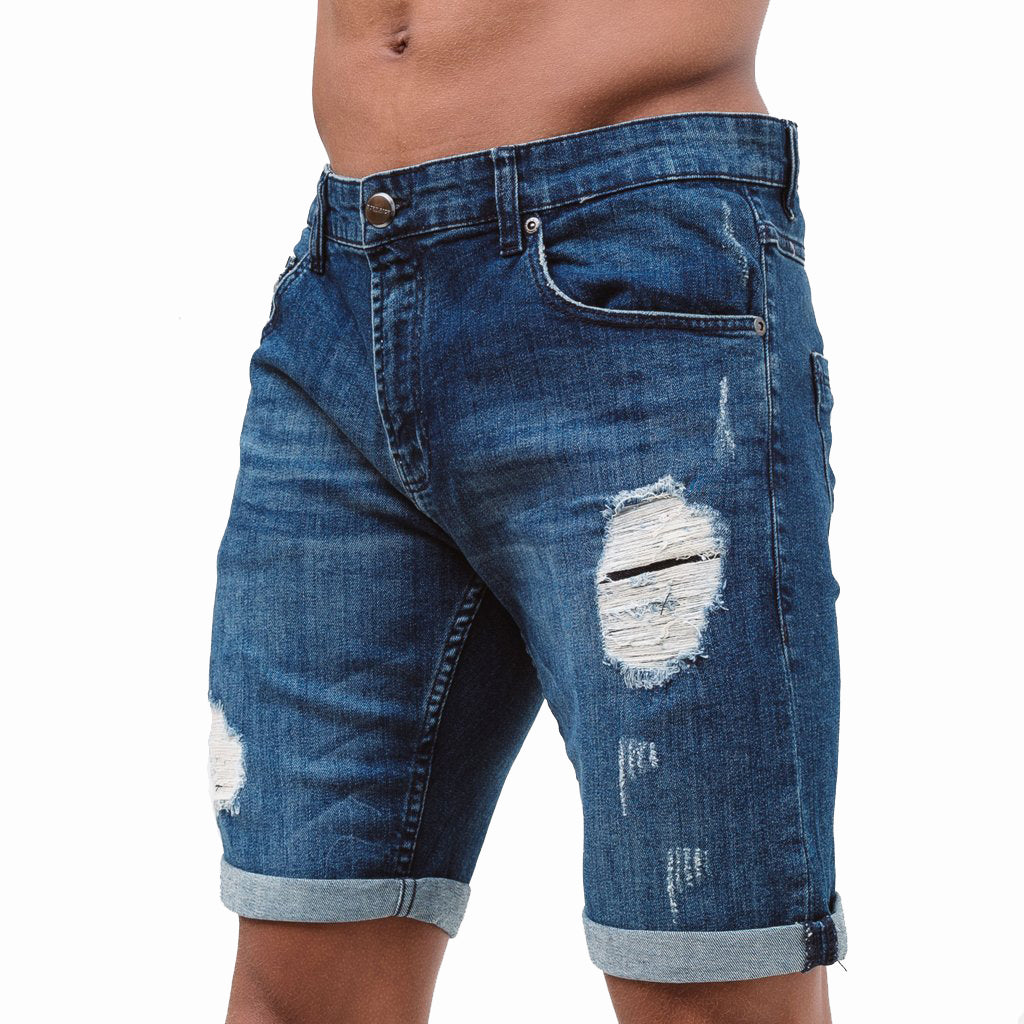 Born Rich denim shorts Amoretti Mid Wash