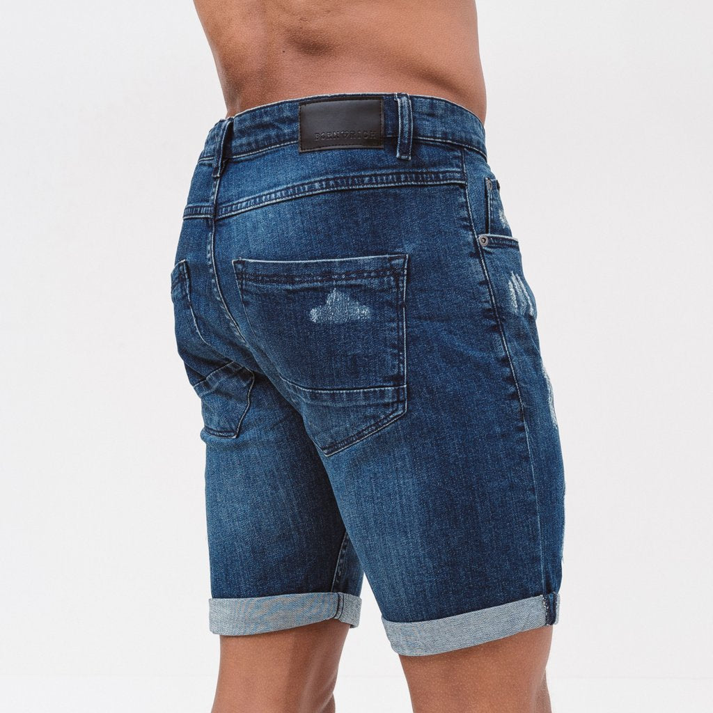 Born Rich Denim Shorts