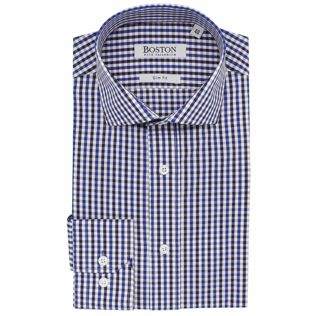 Boston Shirt Purple Check S18BS355-59